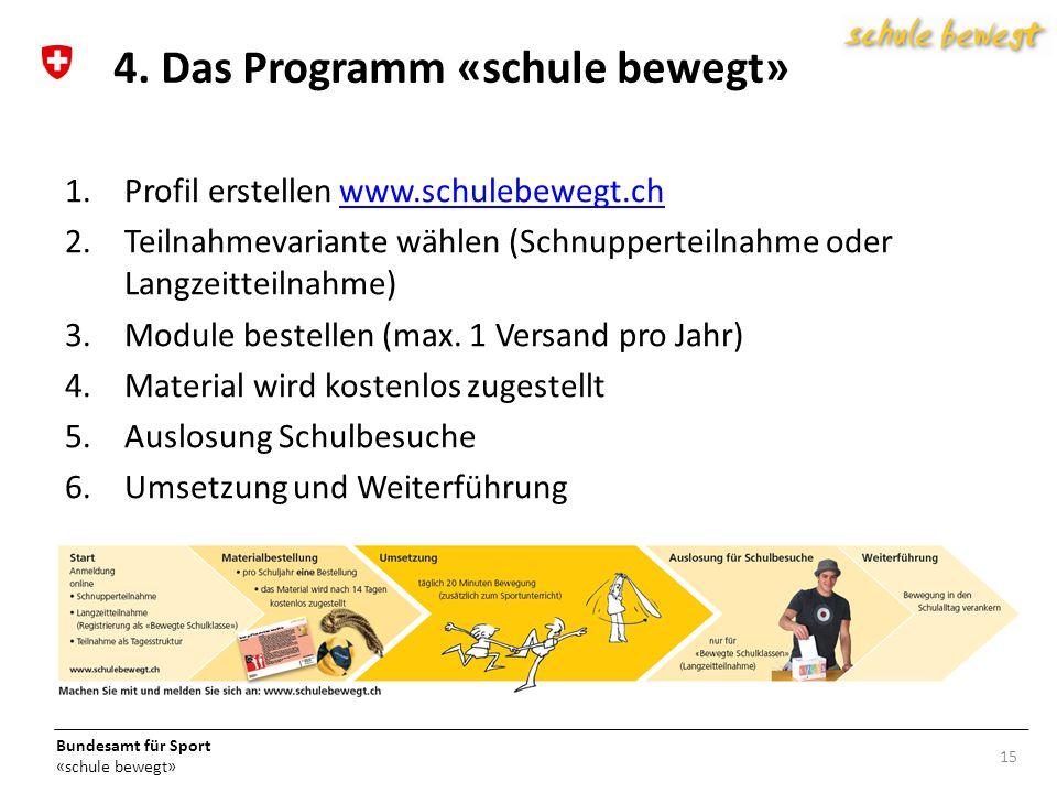 4. Das Programm «schule bewegt»
