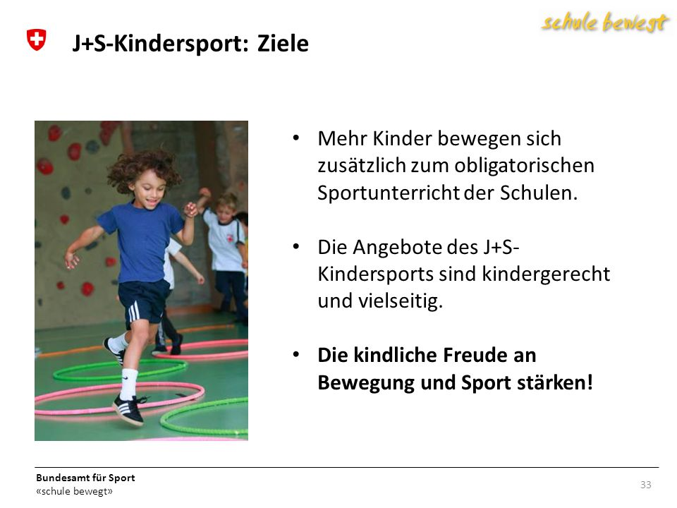 J+S-Kindersport: Ziele