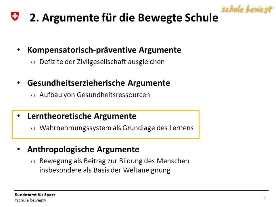 2. Argumente für die Bewegte Schule