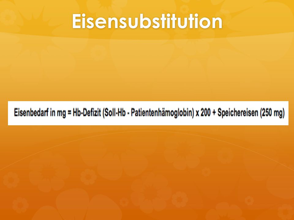 Eisensubstitution