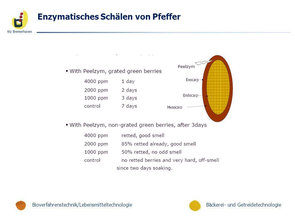 Enzymatisches Schälen von Pfeffer