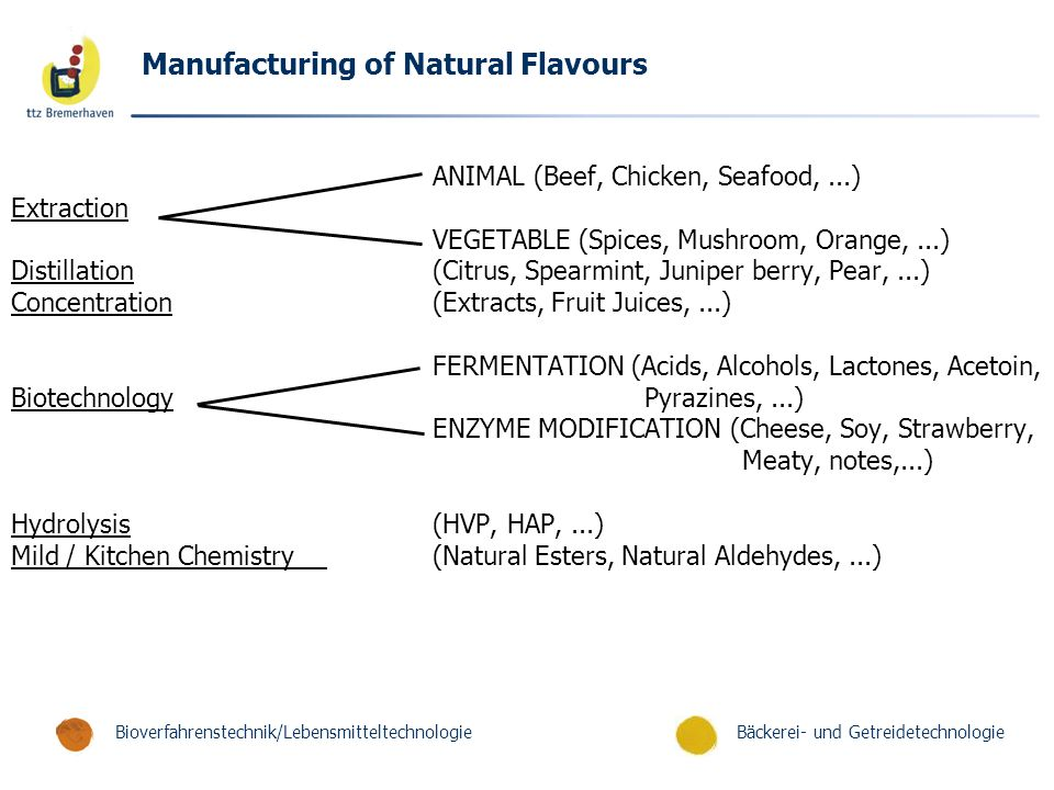 Manufacturing of Natural Flavours