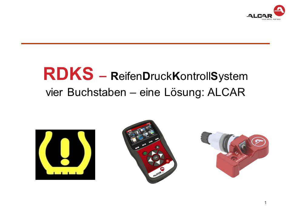 RDKS – ReifenDruckKontrollSystem vier Buchstaben – eine Lösung: ALCAR