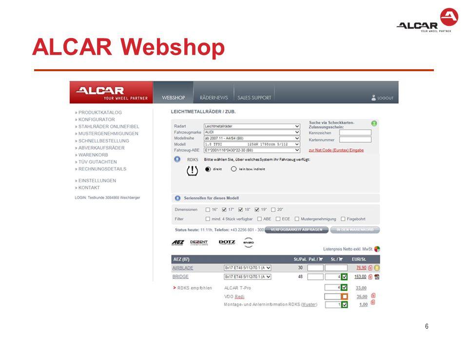 ALCAR Webshop