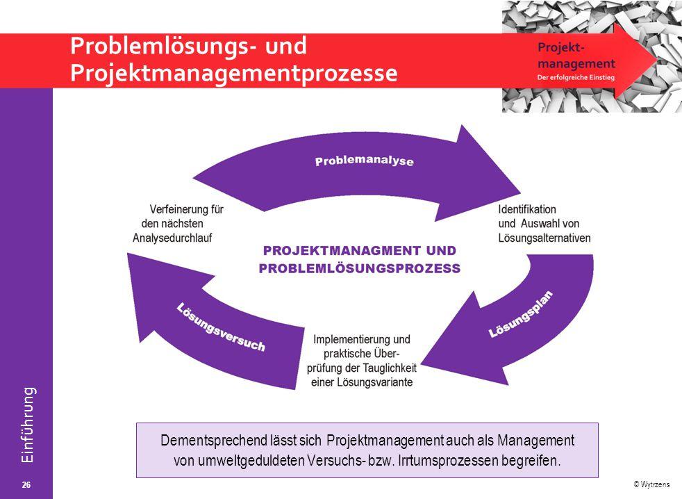 Problemlösungs- und Projektmanagementprozesse