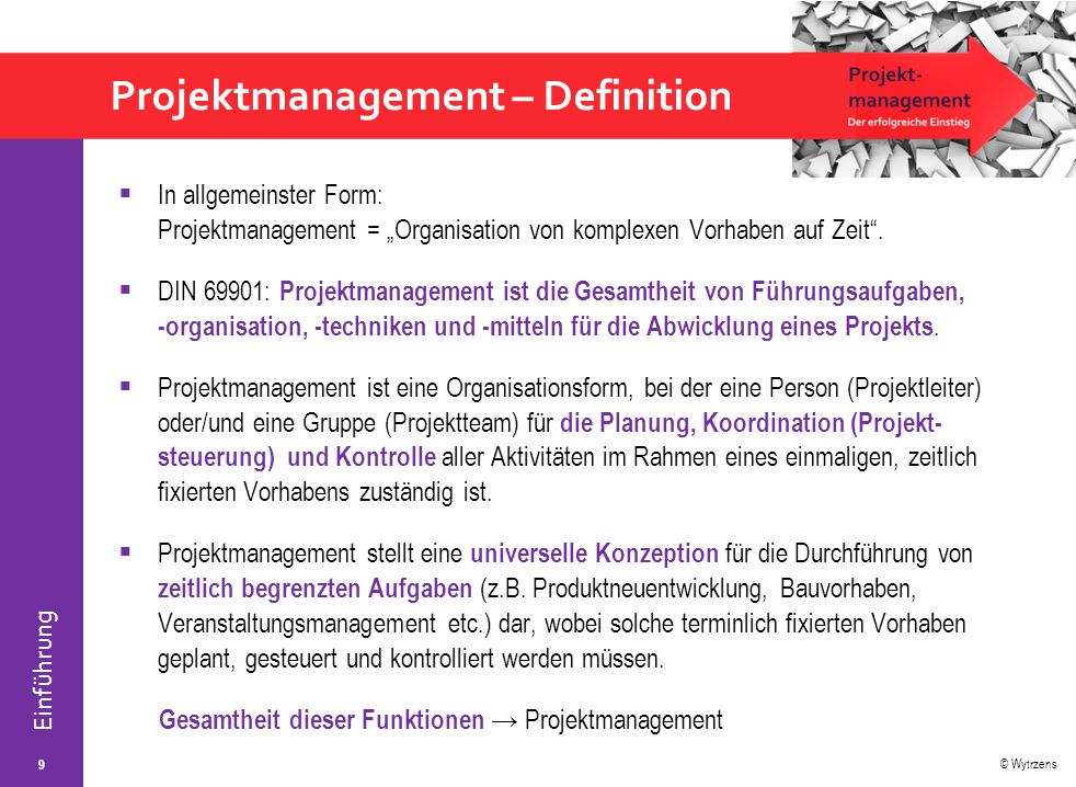 Projektmanagement – Definition