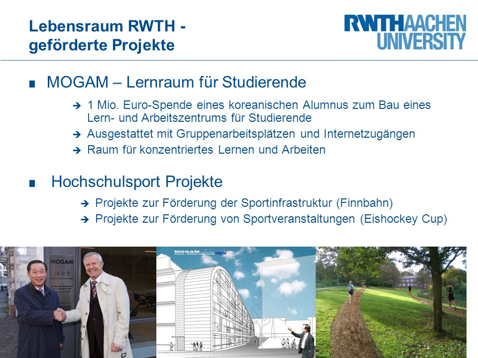 Lebensraum RWTH - geförderte Projekte