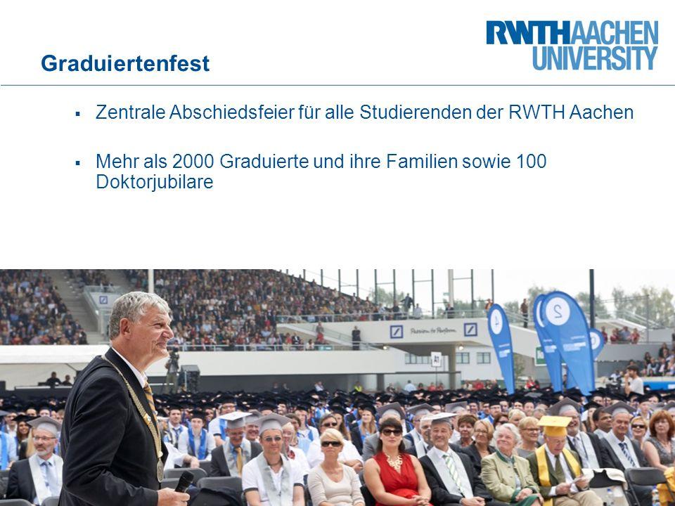 Graduiertenfest Zentrale Abschiedsfeier für alle Studierenden der RWTH Aachen.
