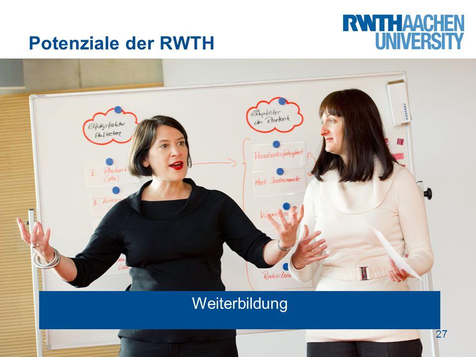 Potenziale der RWTH Weiterbildung