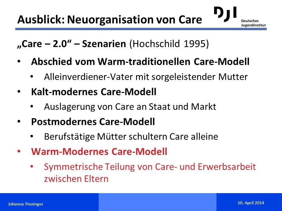 Ausblick: Neuorganisation von Care