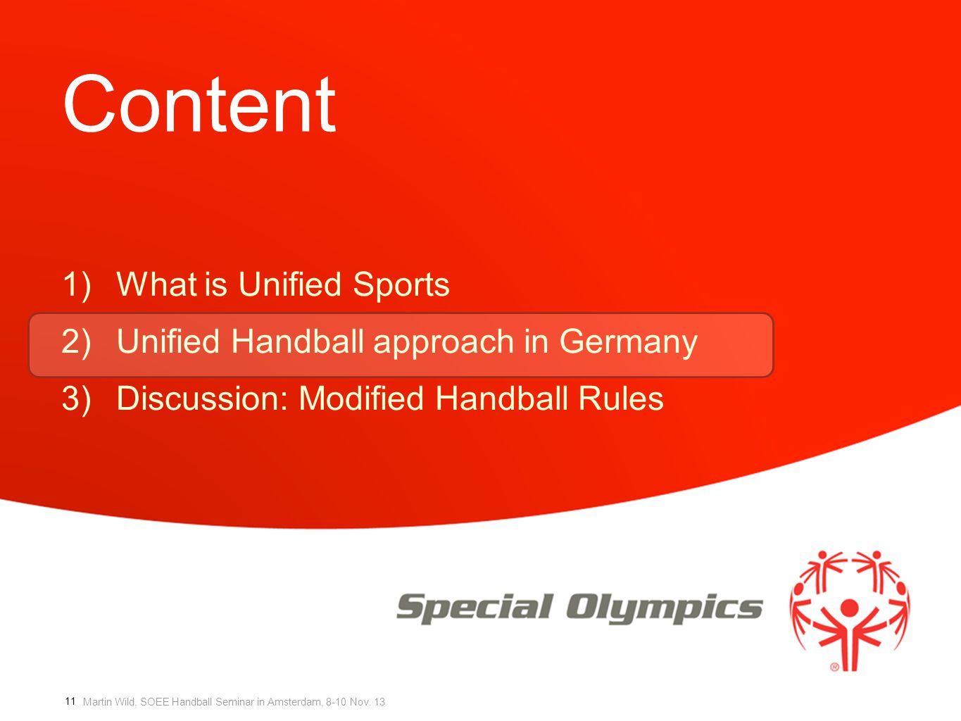 Content What is Unified Sports Unified Handball approach in Germany