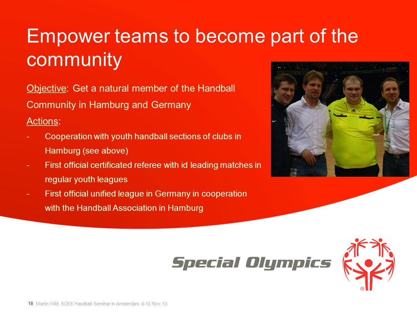 Empower teams to become part of the community