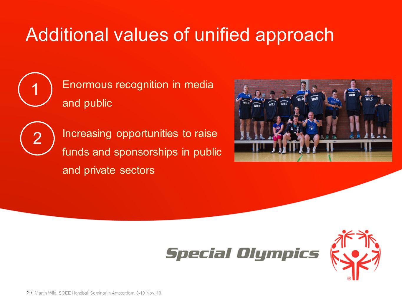 Additional values of unified approach