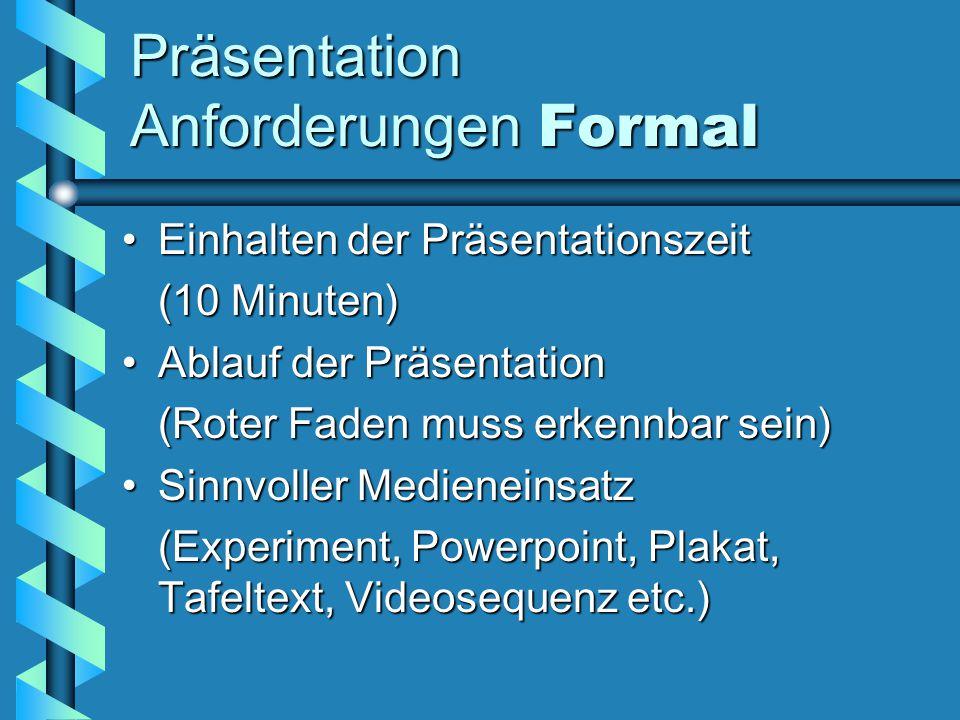 Präsentation Anforderungen Formal