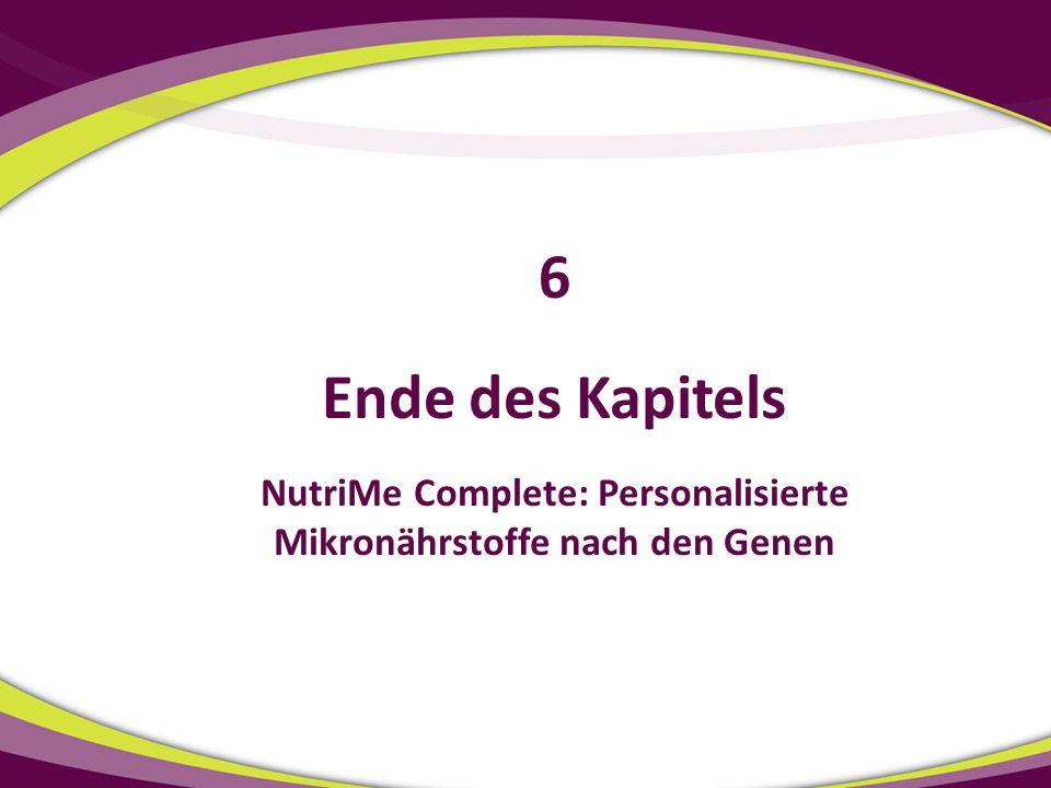 NutriMe Complete: Personalisierte Mikronährstoffe nach den Genen