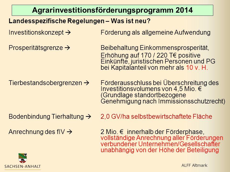 Agrarinvestitionsförderungsprogramm 2014