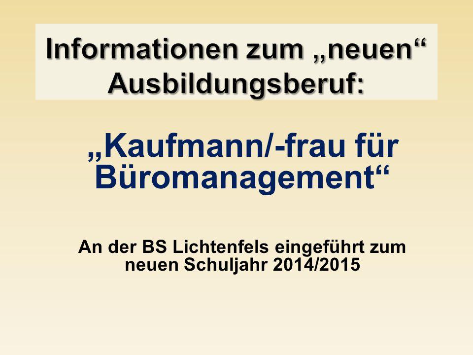 """Informationen zum """"neuen Ausbildungsberuf:"""