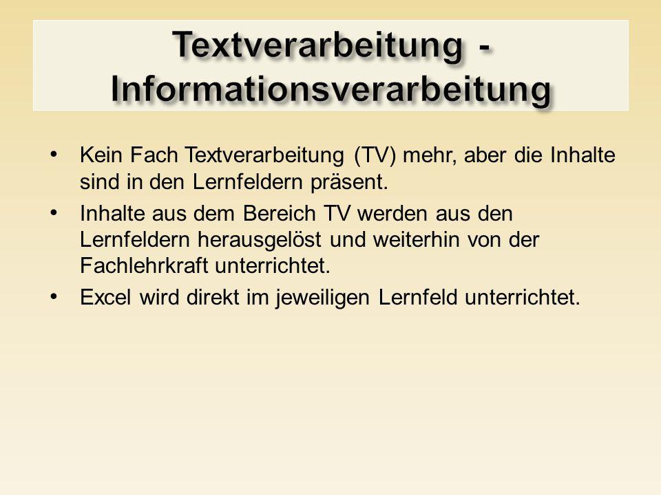 Textverarbeitung - Informationsverarbeitung