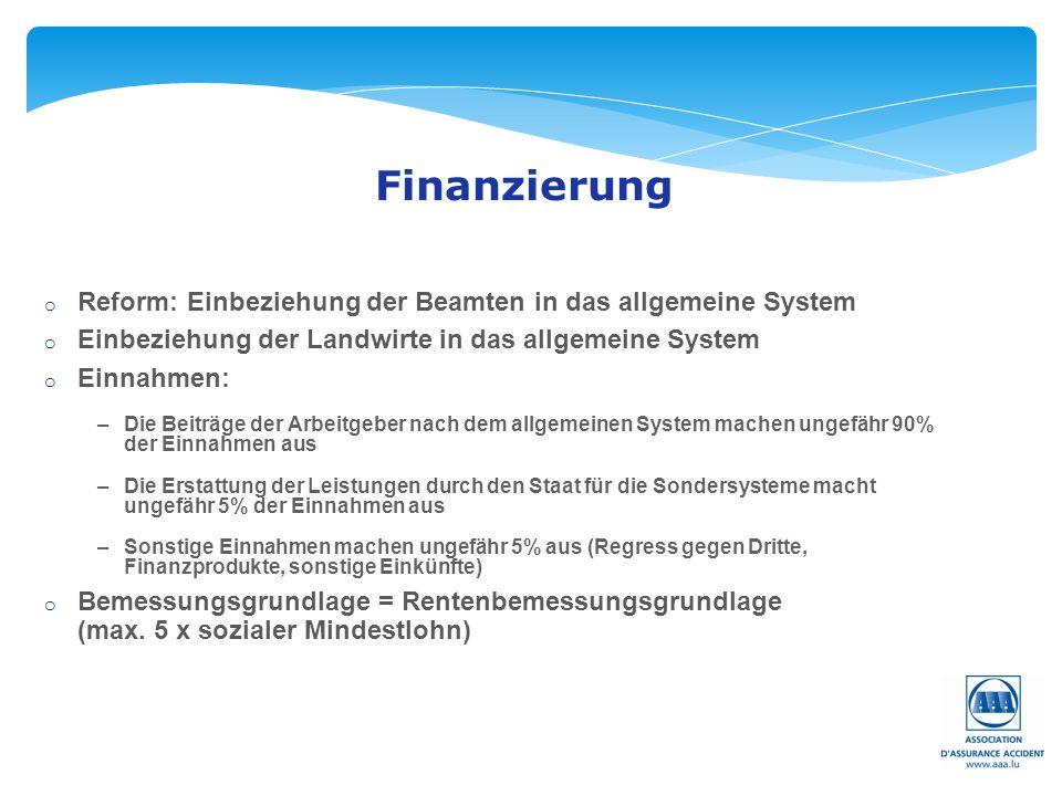 Finanzierung Reform: Einbeziehung der Beamten in das allgemeine System