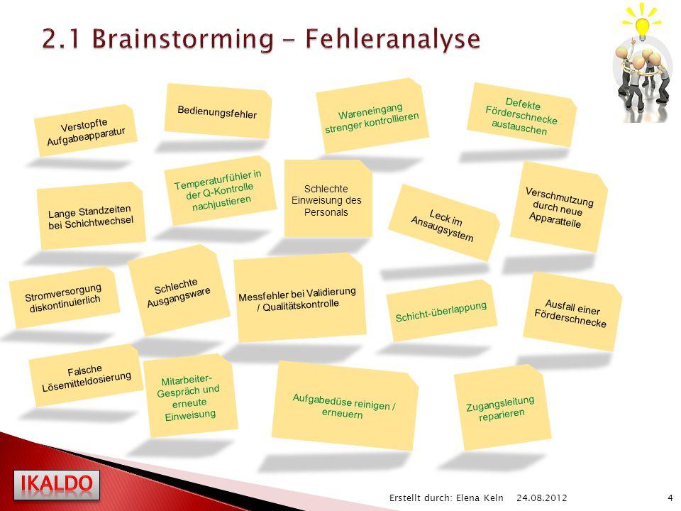 2.1 Brainstorming - Fehleranalyse