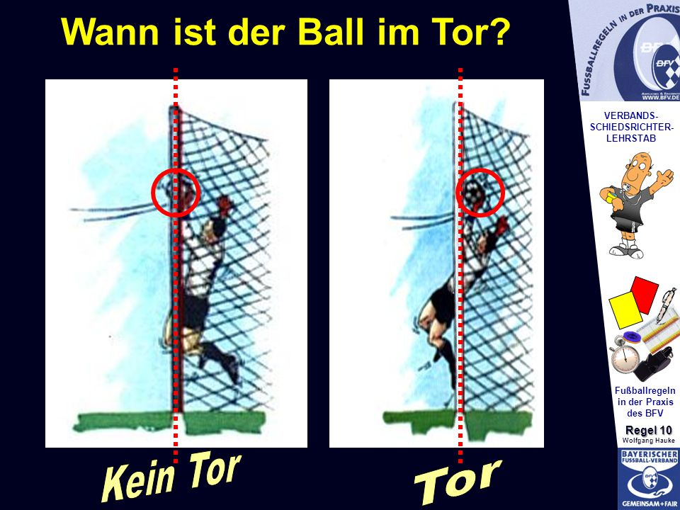 Wann ist der Ball im Tor Kein Tor Tor