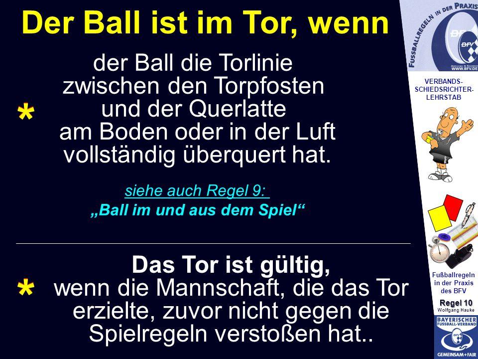 """Fußballregeln in der Praxis """"Ball im und aus dem Spiel"""