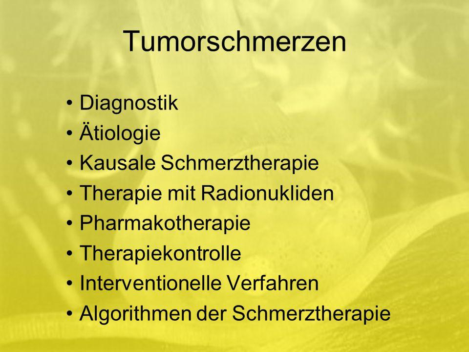 Tumorschmerzen Diagnostik Ätiologie Kausale Schmerztherapie