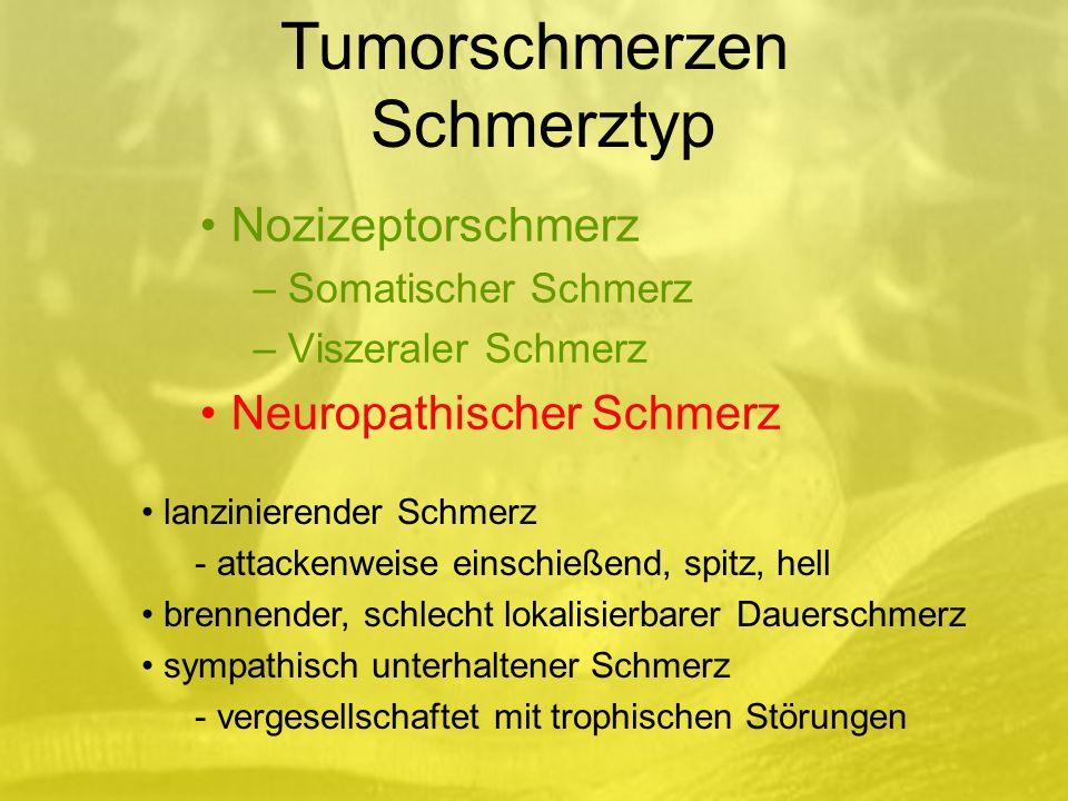 Tumorschmerzen Schmerztyp
