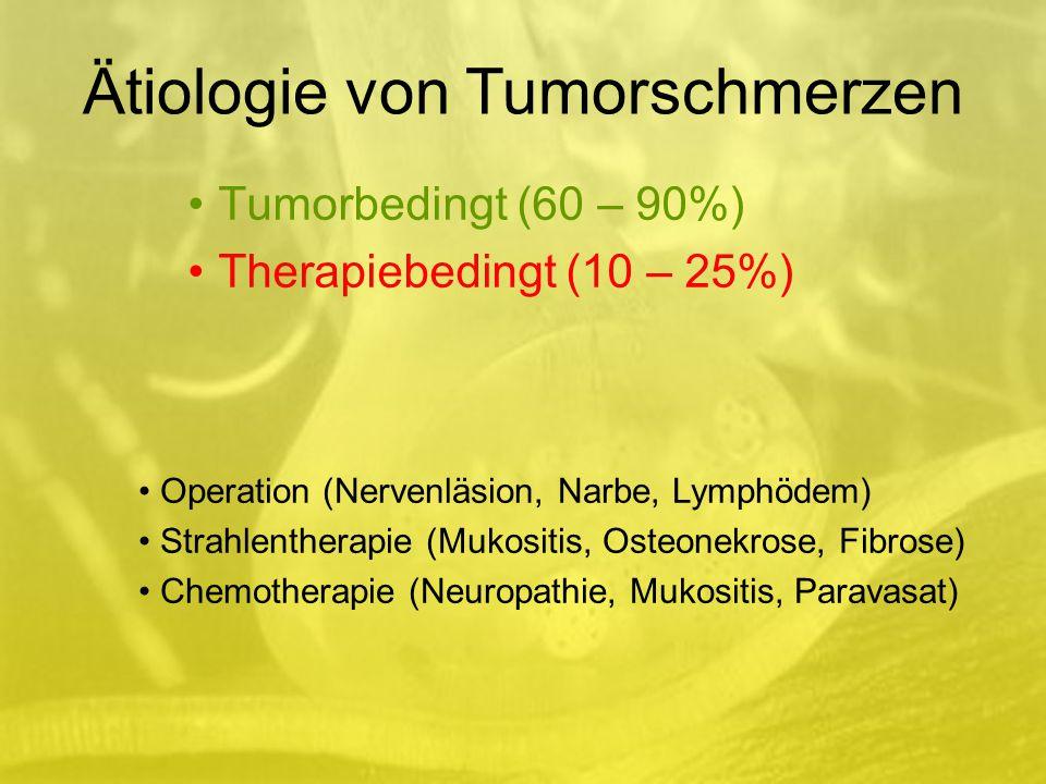 Tumorbedingt (60 – 90%) Therapiebedingt (10 – 25%)