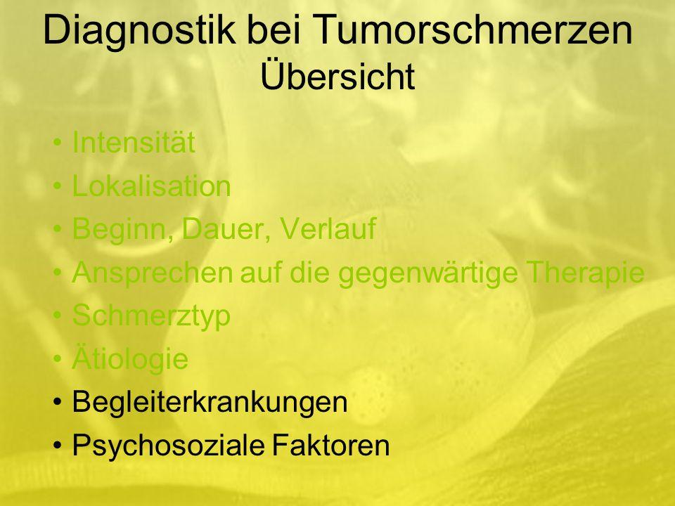 Diagnostik bei Tumorschmerzen Übersicht