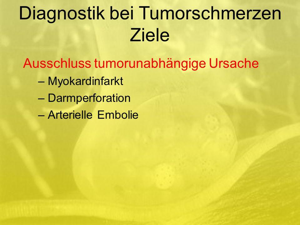 Diagnostik bei Tumorschmerzen Ziele
