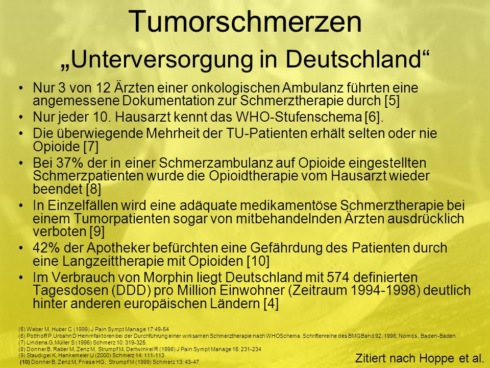 """Tumorschmerzen """"Unterversorgung in Deutschland"""