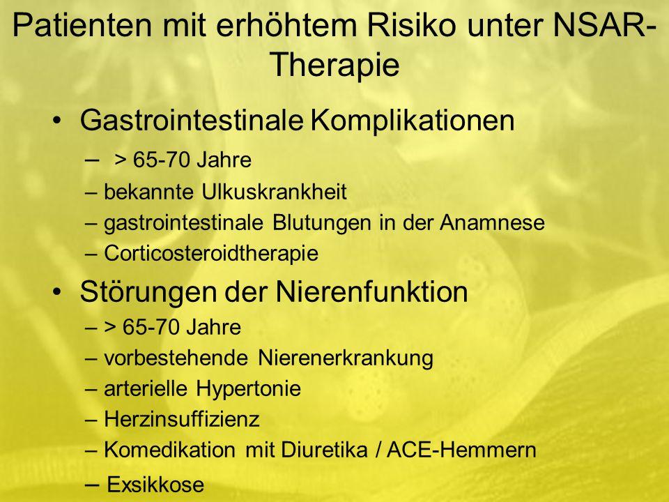 Patienten mit erhöhtem Risiko unter NSAR-Therapie