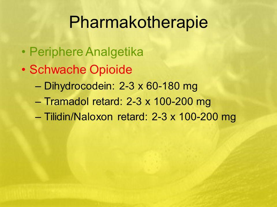 Pharmakotherapie Periphere Analgetika Schwache Opioide