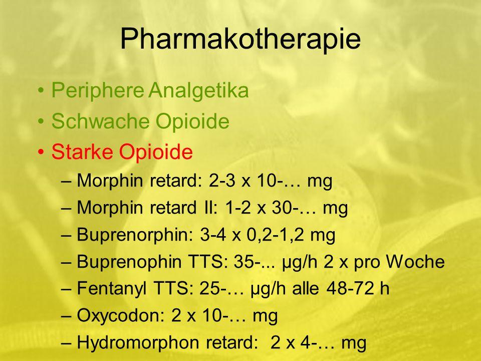 Pharmakotherapie Periphere Analgetika Schwache Opioide Starke Opioide