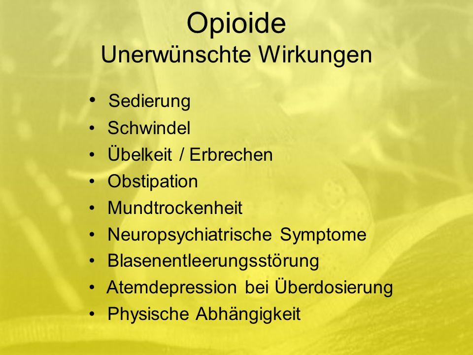 Opioide Unerwünschte Wirkungen
