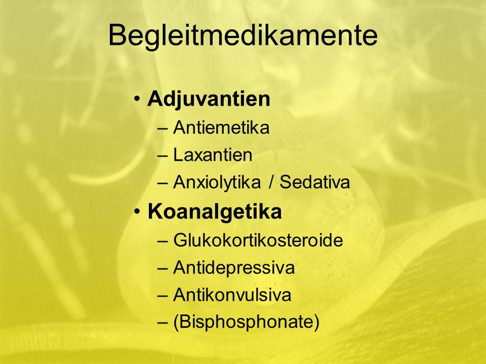 Begleitmedikamente Adjuvantien Koanalgetika Antiemetika Laxantien