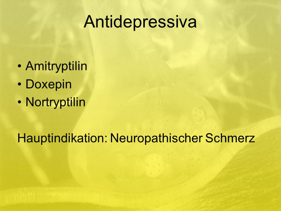 Antidepressiva Amitryptilin Doxepin Nortryptilin