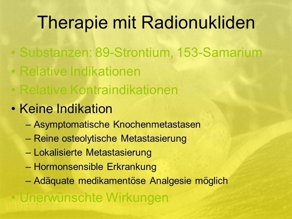 Therapie mit Radionukliden