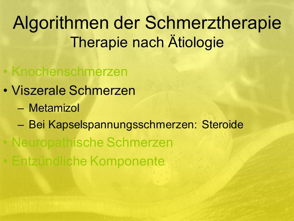Algorithmen der Schmerztherapie Therapie nach Ätiologie