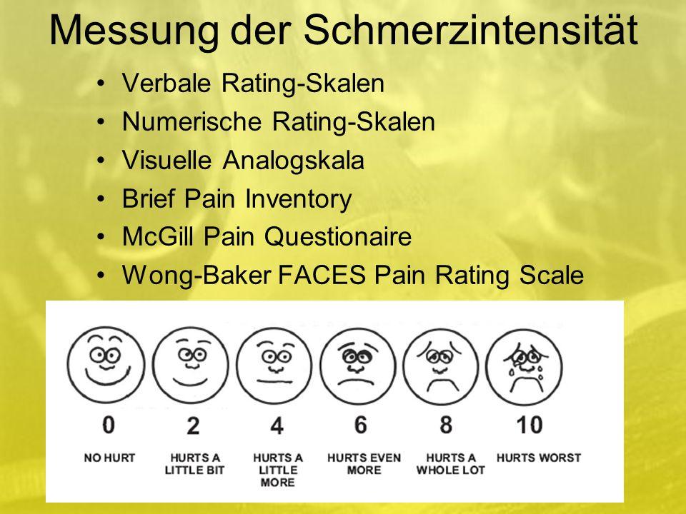 Messung der Schmerzintensität