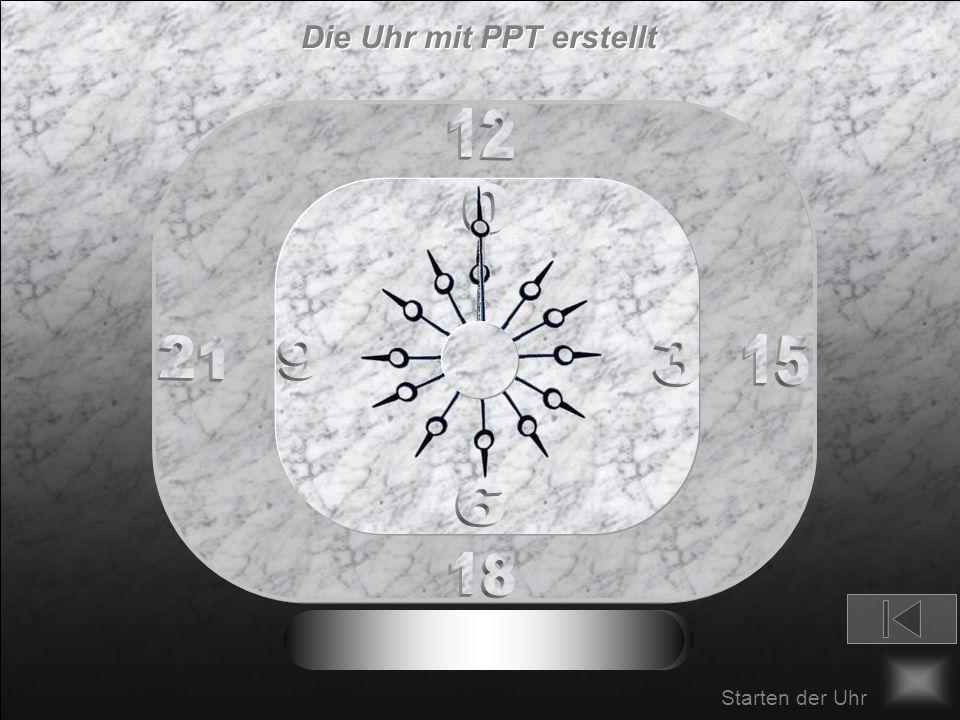 Die Uhr mit PPT erstellt