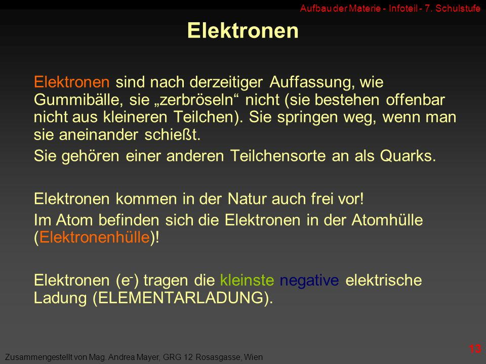 Elektronen