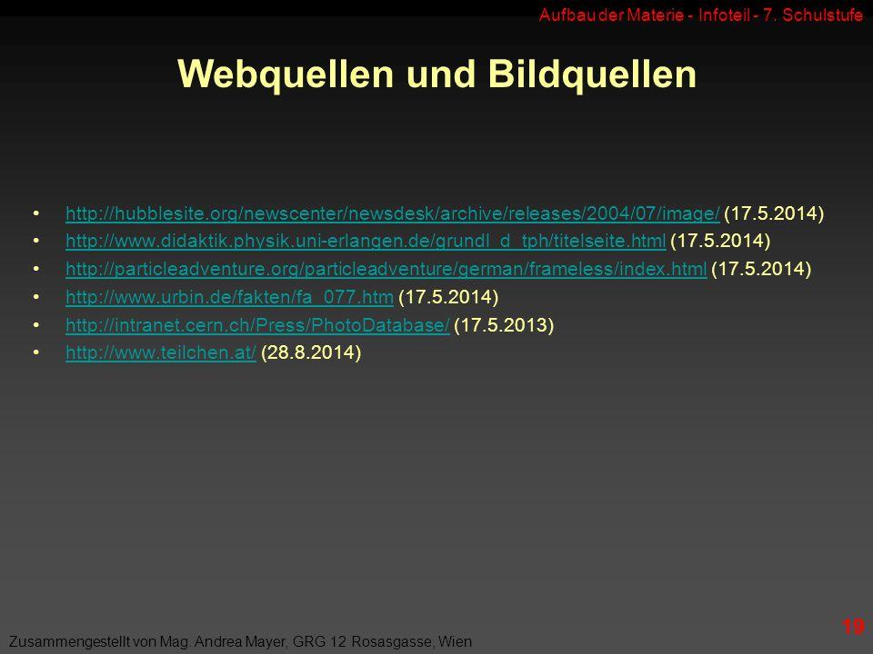 Webquellen und Bildquellen