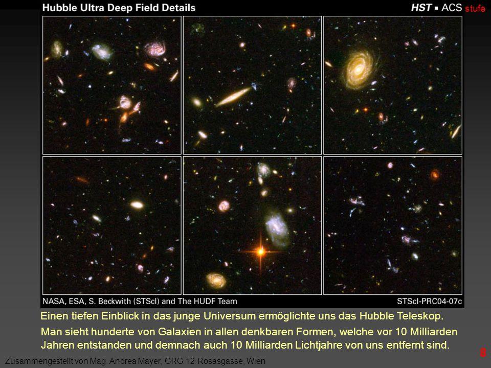 Einen tiefen Einblick in das junge Universum ermöglichte uns das Hubble Teleskop.
