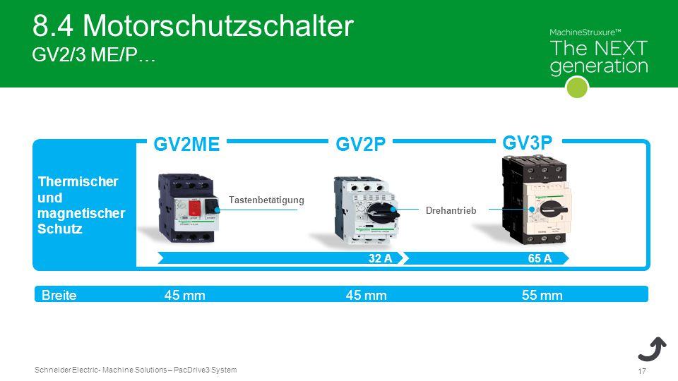 8.4 Motorschutzschalter GV2/3 ME/P…