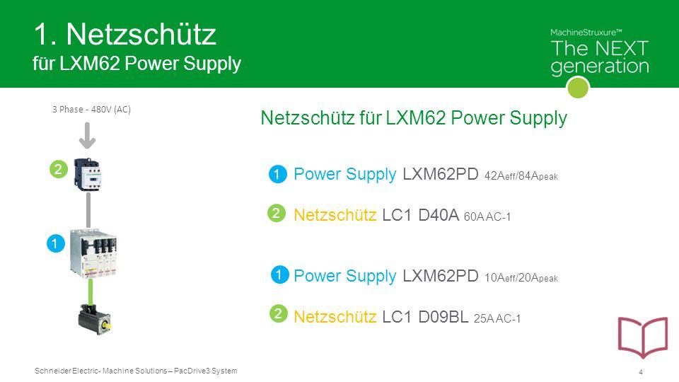 1. Netzschütz für LXM62 Power Supply