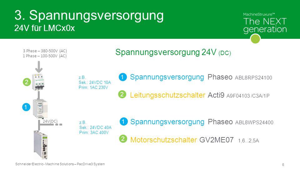 3. Spannungsversorgung 24V für LMCx0x