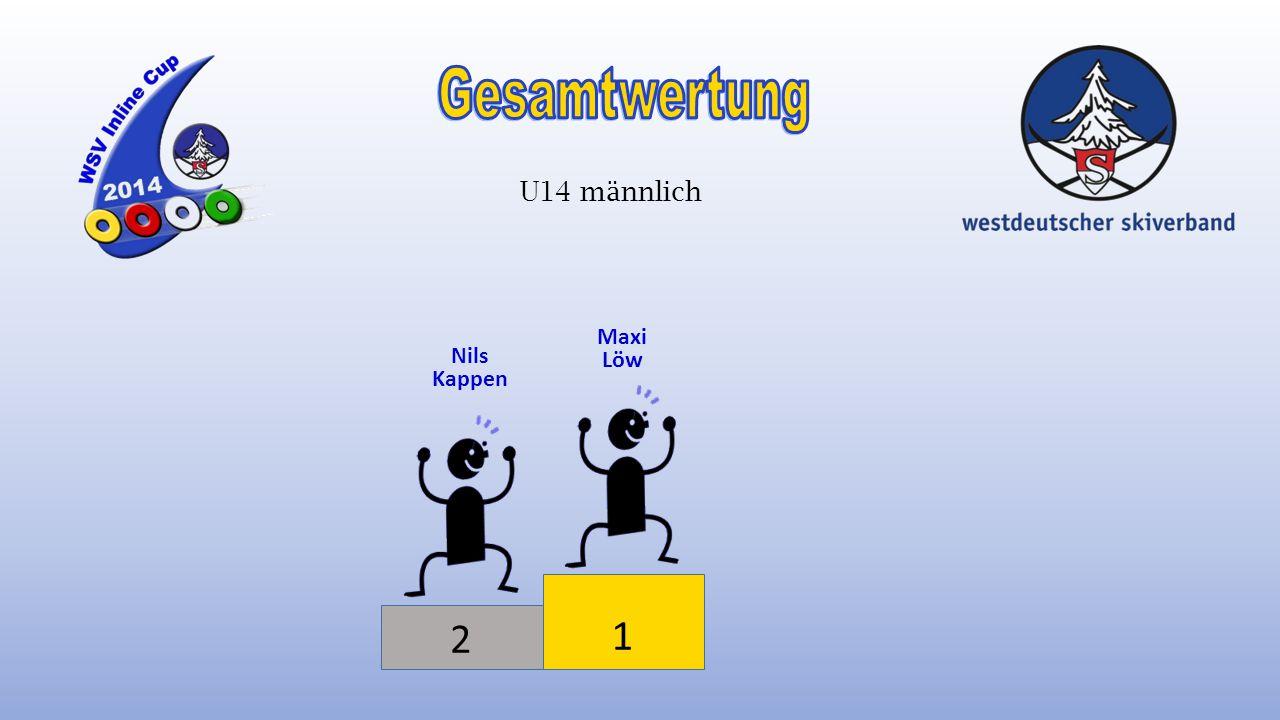Gesamtwertung U14 männlich Maxi Löw Nils Kappen 2 1