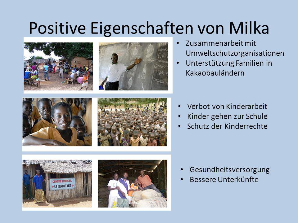 Positive Eigenschaften von Milka